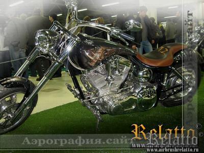 аэрография кастом мотоцикла Harley Davidson Краснодар