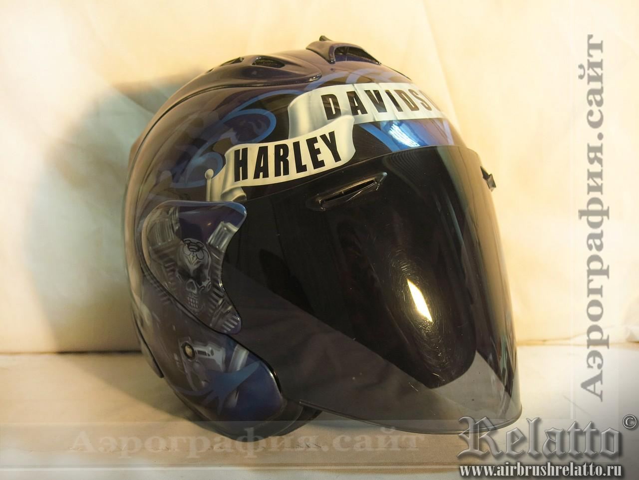 Аэрография шлема Arai Hey Harley
