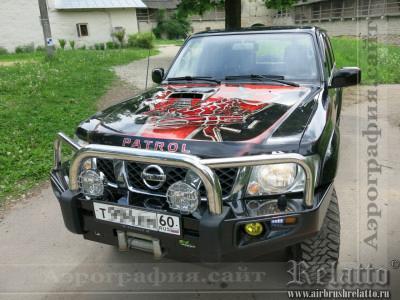 Аэрография Nissan Patrol - Трансформеры Краснодар