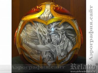 аэрография мото шлема Санкт-Петербург Relatto