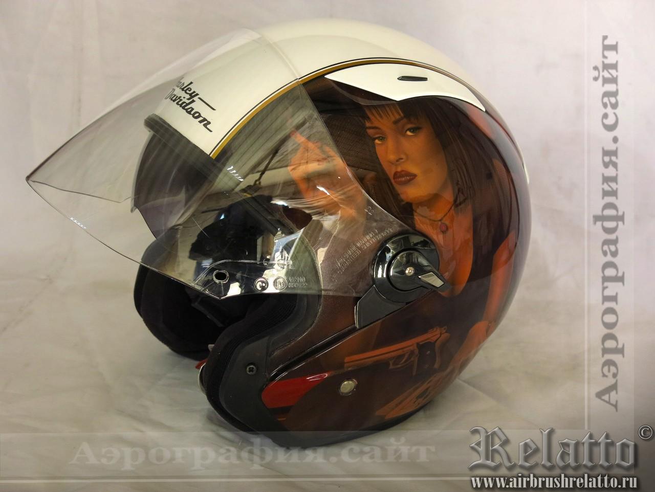 аэрография шлема Harley Davidson фото