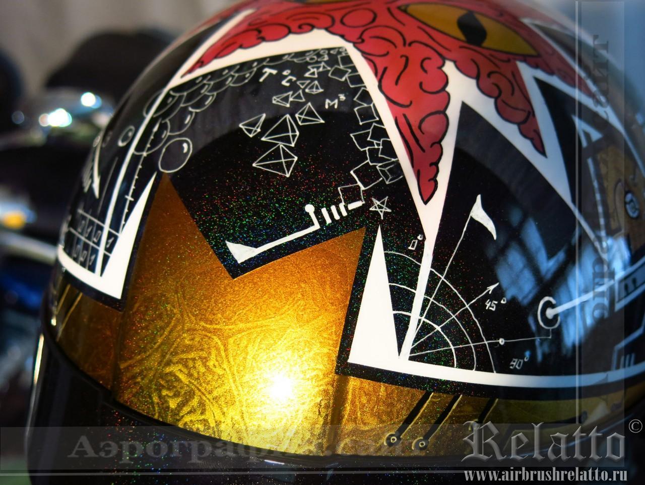 аэрография на шлеме в Москве