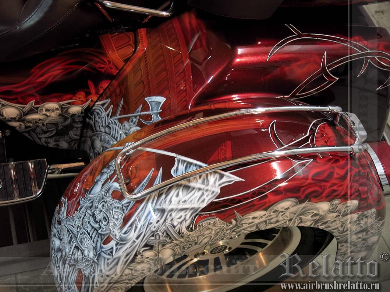 аэрография байка Harley-Davidson Tri Glide Ultra Classic