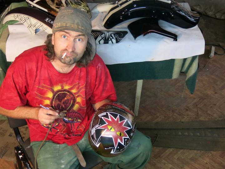 аэрография на шлеме Harley Davidson