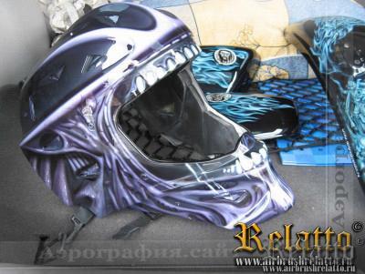 аэрография  вратарского шлема Relatto